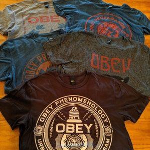 OBEY Clothing T-shirt Medium Lot Bundle
